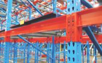 Heavy duty rivet endplates on galvanized pallet racks