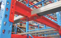 Alt beams on galvanized pallet rack