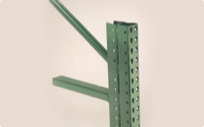 Double postings for pallet rack in high traffic warehouse areas