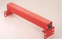 Fork entry bars for warehouse storage racking
