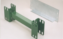 Galvanized row spacer and wall ties for warehouse storage racks