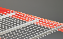 Wire mesh decks for added support in warehouse pallet racks