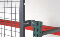 Wire and net rack back for warehouse storage racks
