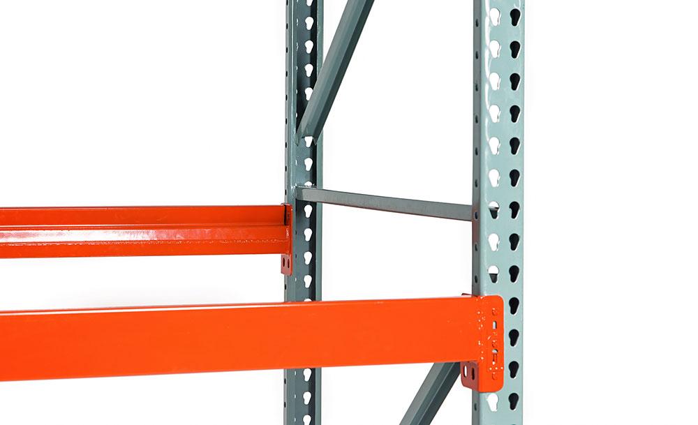 Galvanized pallet rack for warehouses